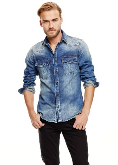 Camicia denim medio classic-fit