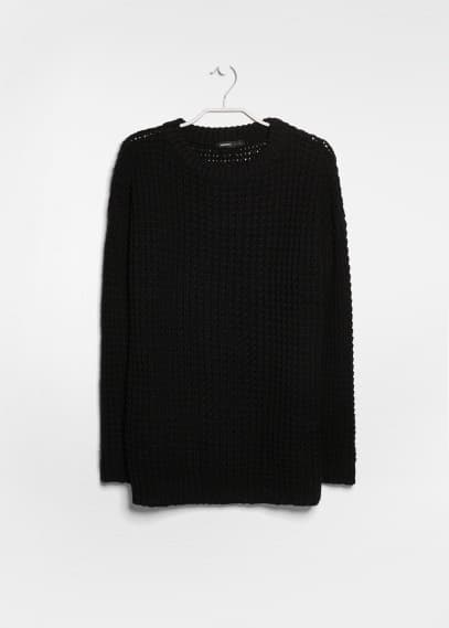 Chunky-knit long sweater