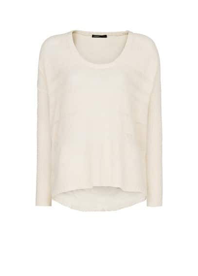 Open-knit fine sweater