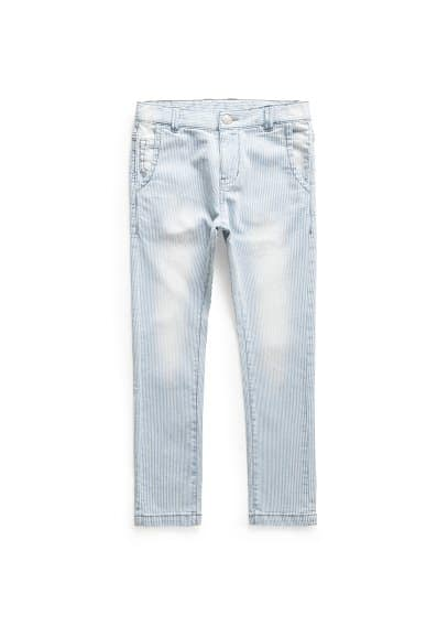 Gestreifte Slim Fit Jeans