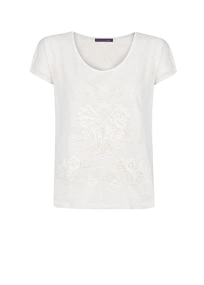 Bead embroidered t-shirt