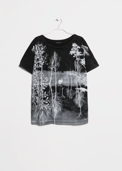 Faded forest cotton t-shirt