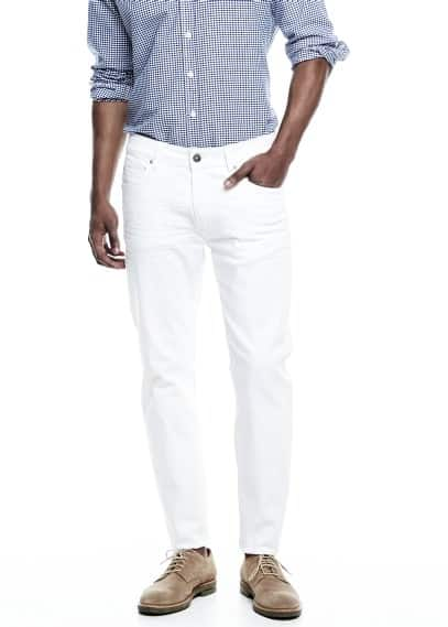 Jean Alex slim-fit blanc