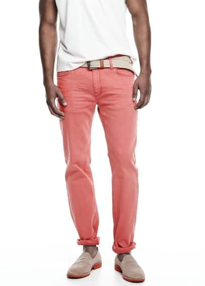 Jean Alex slim-fit rouge