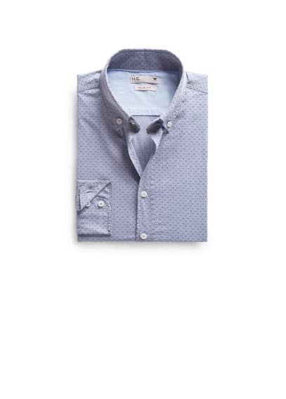 Slim Fit Jacquard-Hemd