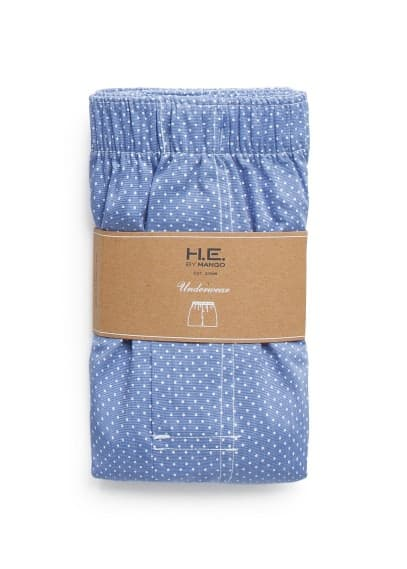Polka-dot cotton boxer shorts