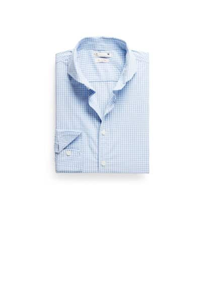 Gingham geruit slim-fit overhemd