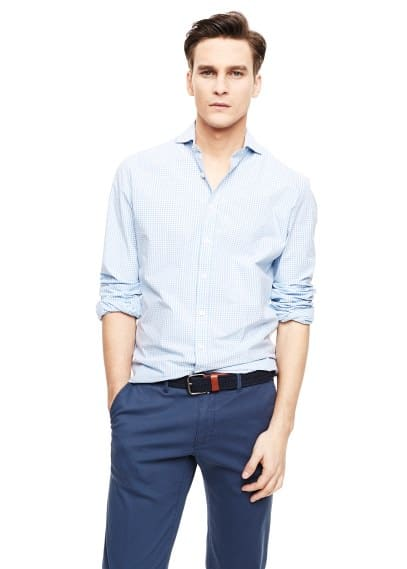 Camisa slim-fit quadrados vichy