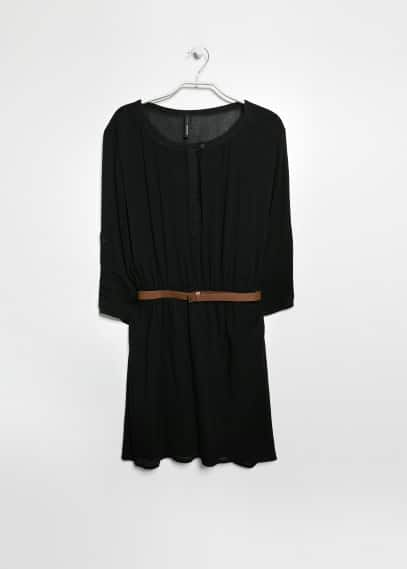 Belted lightweight dress
