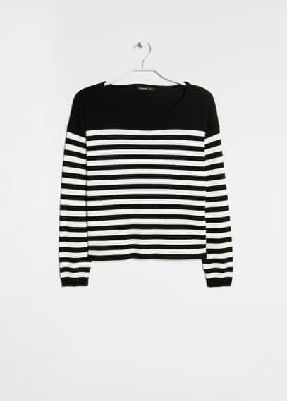 Pull-over boxy rayé