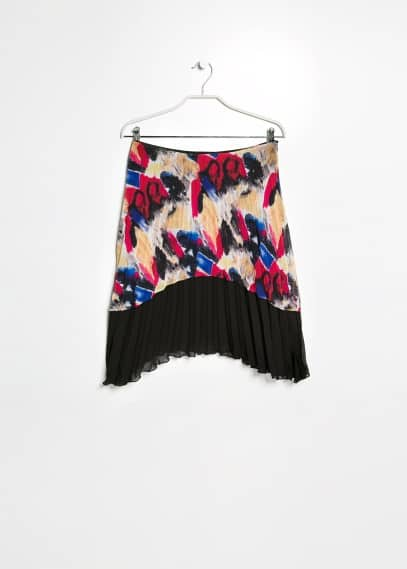 Rok met graffitiprint