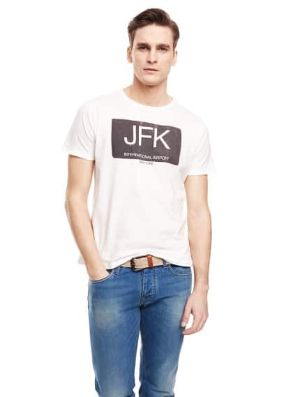 T-shirt estampada JFK