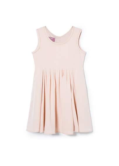 Pleated detail dress