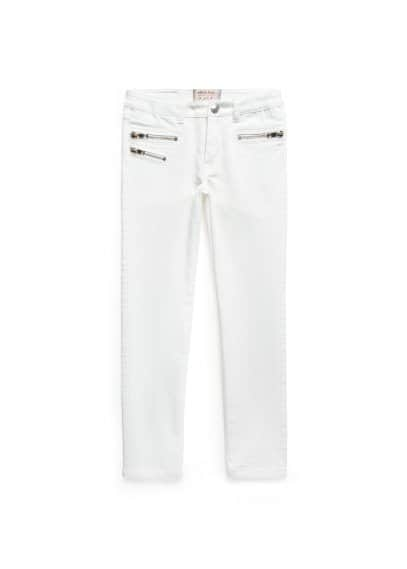 Zipped white jeans