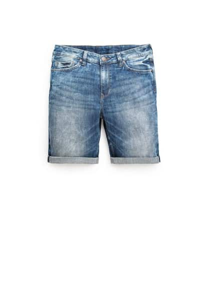 Denim bermuda met medium wassing