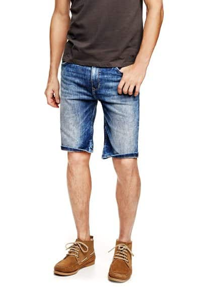 Bermudas denim lavado medio