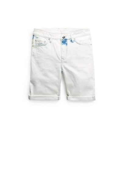 Bermudas denim lavado bleach