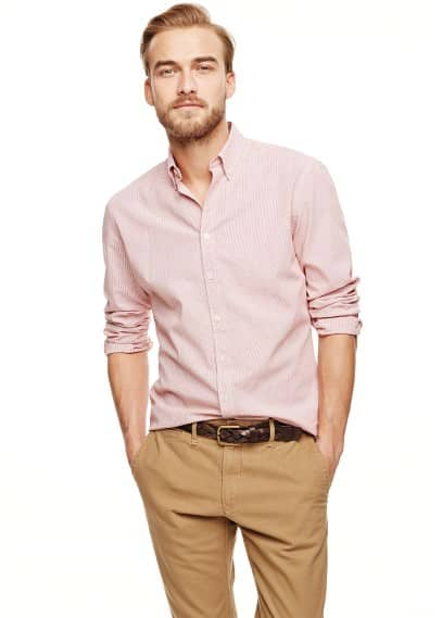 Slim-fit micro check shirt