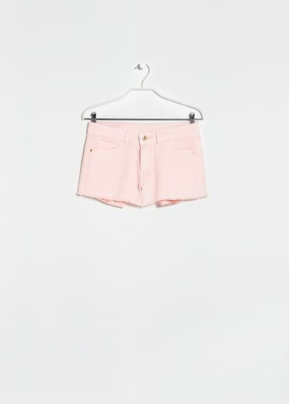 Short denim rosa