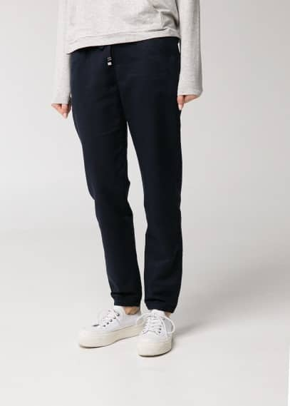 Ribbed waist trousers