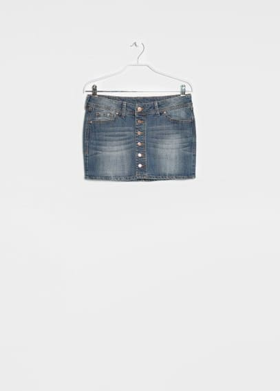 Denim minirok met medium wassing