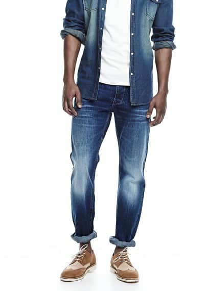 Slim-fit dark wash Steve jeans