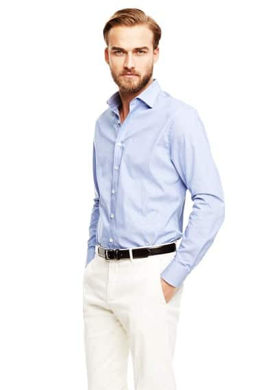 Camisa Premium slim-fit pata de gallo