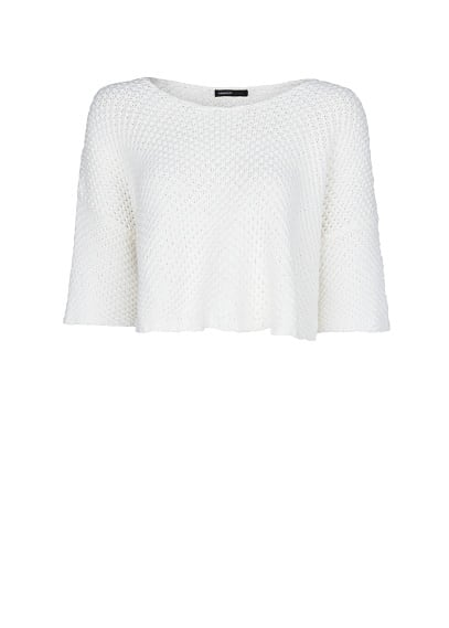 Cropped chunky-knit sweater