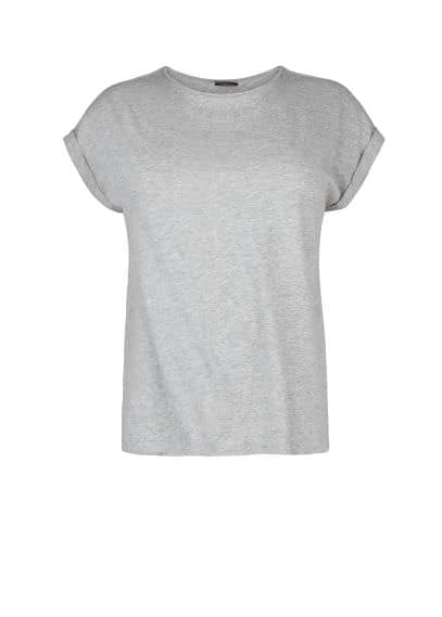 Flecked cotton t-shirt
