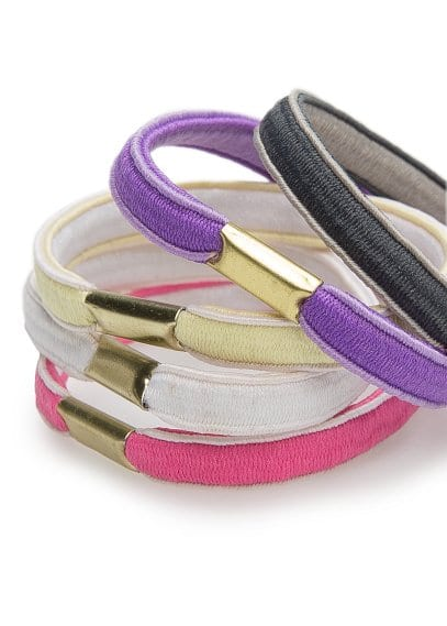 Multicolor hair tie pack