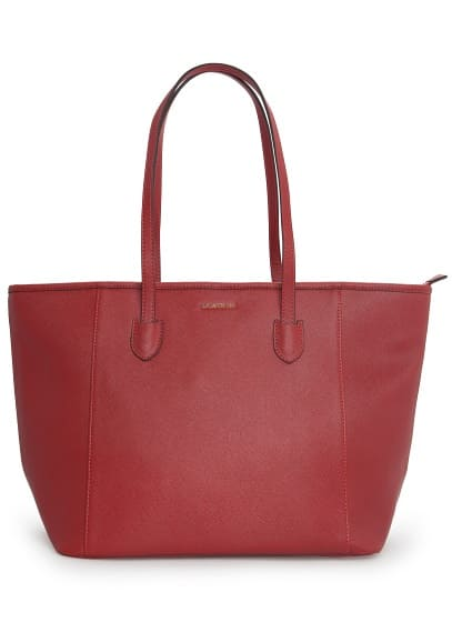 Saffiano-effect shopper bag
