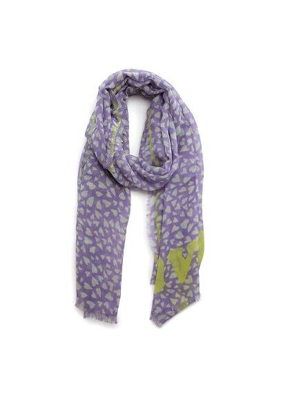 Have fun heart print scarf