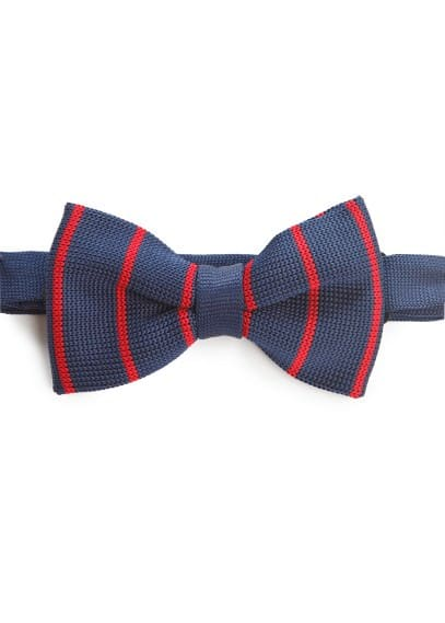 Striped patterned bow-tie
