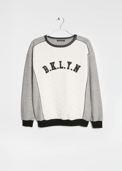 Brooklyn quilted sweatshirt