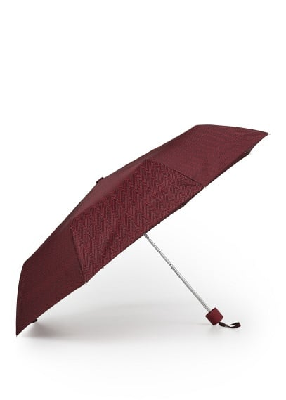 Herringbone print umbrella