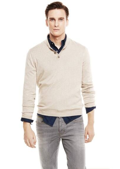 Nubuck elbow patches sweater