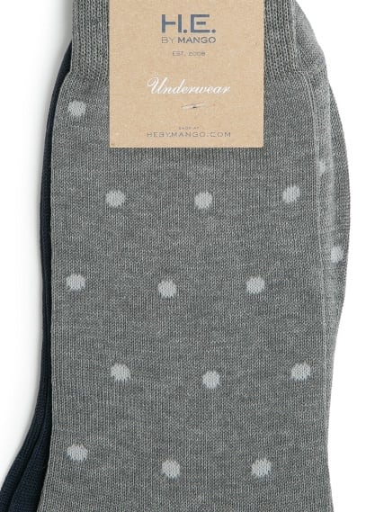 2 pack polka-dot socks
