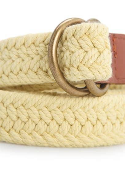 Braided cotton-blend belt