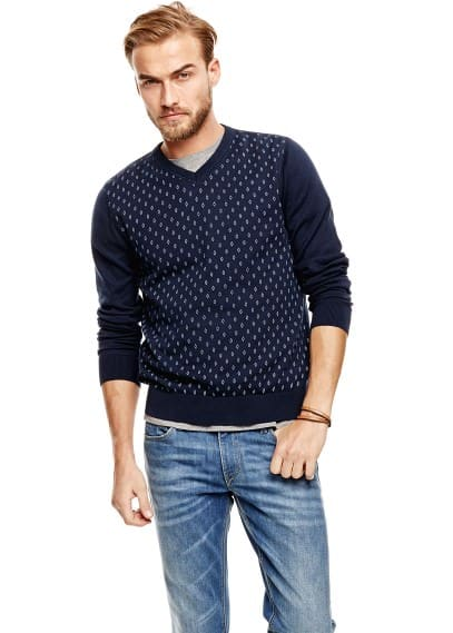 Pull-over coton losanges
