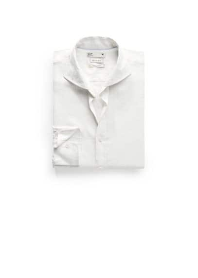 Camisa slim-fit lino