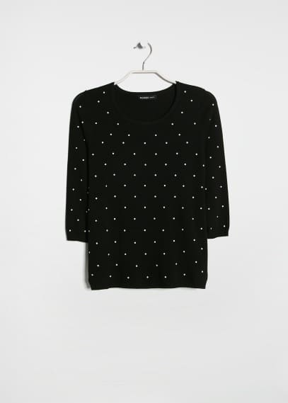 Polka-dot print sweater