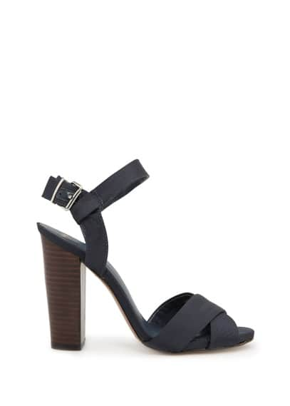 Grosgrain crisscross sandals