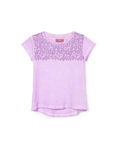 Camiseta leopardo purpurina