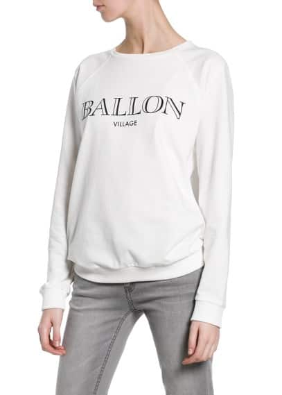 Ballon cotton sweatshirt