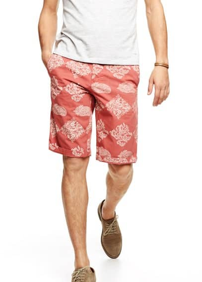 Paisley cotton bermuda shorts