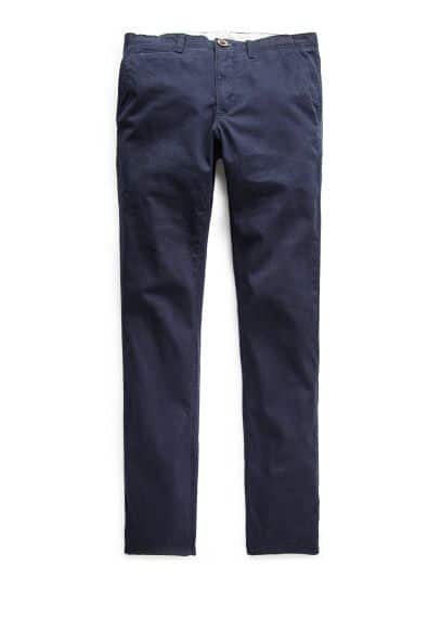 Katoenen straight-fit chino