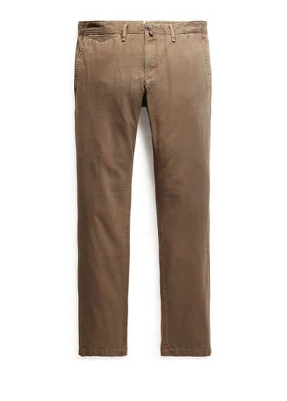 Chino slim-fit toile