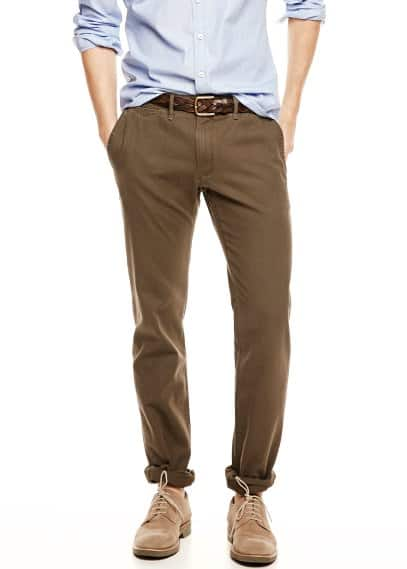 Slim-fit canvas chino