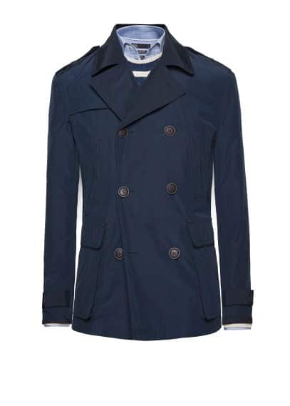 Trim technical trench coat