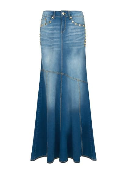 Denim rok met pailletten